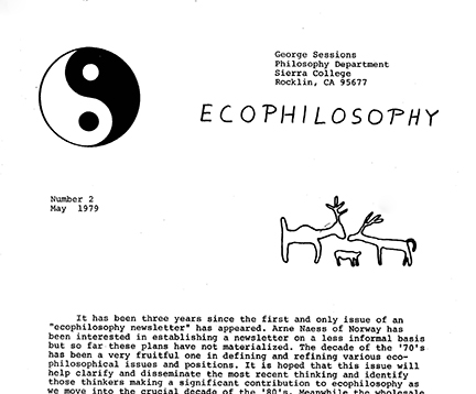 ecophilosophy newsletter